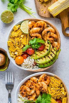 Clean Eating Meal Prep: Grilled Shrimp Bowls + Cilantro-Lime Rice! - Clean Food Crush