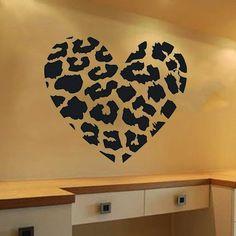 50 budget friendly bedroom ideas: Leopard Print Decor decal sticker