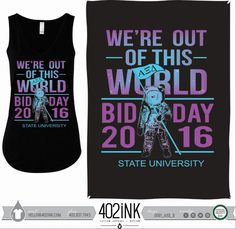 #402ink #402style 402ink, Custom Apparel, Greek T-shirts, Sorority T-shirts, Fraternity T-shirts, Greek Tanks, Custom Greek Apparel, Screen printed apparel, embroidered apparel, Sorority, AZD, Alpha Xi Delta, Bid Day ,Out of This World