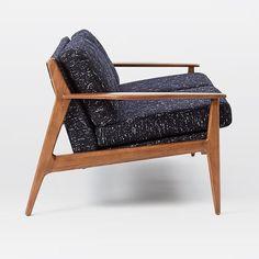 Mathias Mid-Century Wood Frame Loveseat | west elm