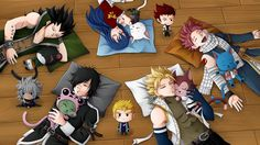Anime Fairy Tail Sting Eucliffe Rogue Cheney Lector (Fairy Tail) Frosch (Fairy Tail) Gajeel Redfox Natsu Dragneel Happy (Fairy Tail) Wendy Marvell Panther Lily (Fairy Tail) Charles (Fairy Tail) Laxus Dreyar Fond d'écran