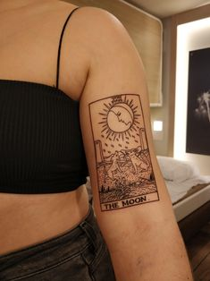 My moon tarot tattoo! Thought I& share this beautiful peace of art here :) Peace Tattoos, Sun Tattoos, Dope Tattoos, Dream Tattoos, Badass Tattoos, Pretty Tattoos, Small Tattoos, Sleeve Tattoos, Tattoos For Guys