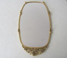 Vintage Mid Century / 24k  / Gilded  / Wall Mirror / Vanity Tray