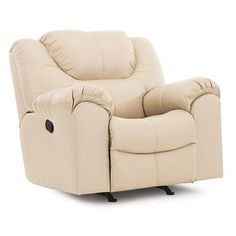 Palliser Furniture Parkville Rocker Recliner Upholstery: Leather/PVC Match - Tulsa II Sand, Leather Type: All Leather Protected, Type: Manual
