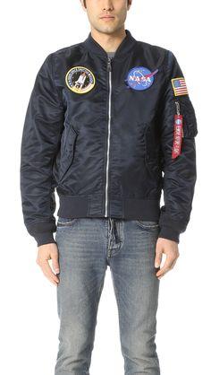 ALPHA INDUSTRIES L2B Nasa Bomber Jacket. #alphaindustries #cloth #jacket