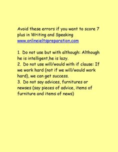 Avoid these errors if you want to score7 plus in ielts Writing and Speaking www.onlineieltspreparation.com
