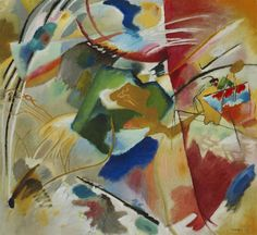Wassily Kandinsky. Painting with Green Center, 1913 Chicago. USA. Art Institute of Chicago