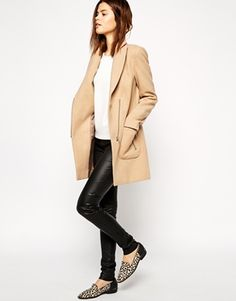WOOL COAT WITH LAPELS ZARA | Fashion-Style | Pinterest | Wool coats