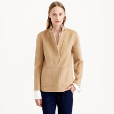 Collection double-faced cashmere popover : collection   J.Crew