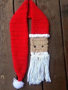Santa Scarf free pattern Ravelry by Kate Skalicky