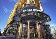 McDonald's on Spanish Broadway (Gran Via) in Madrid, Spain