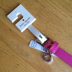 New Kate spade leather belt Beautiful bright pink leather belt still has plastic on metal pieces 30 % off All Bundles 3 + kate spade Accessories Belts