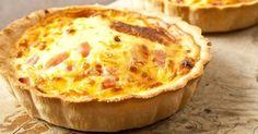 Recette de Quiche au chou-fleur, jambon et oignon. Facile et rapide à réaliser, goûteuse et diététique. Ingrédients, préparation et recettes associées.