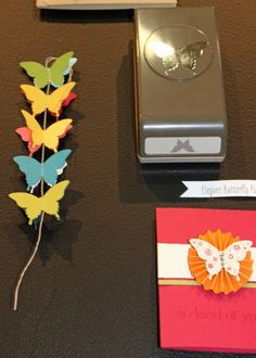 Cute ideas for our butterfly punches