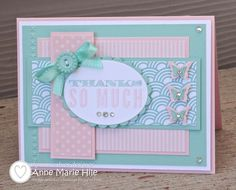 by Anne Marie Hile, Stampin' Anne: Sparkly Butterfly Thanks for {DD #39}