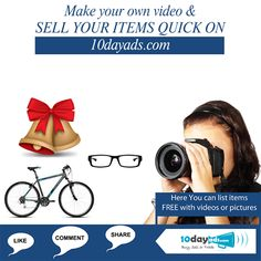 Make your own video and sell your items quick on 10dayads.com #OnlineVideoAd #VideoAds