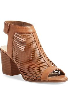 Free shipping and returns on Vince Camuto 'Lavette' Perforated Peep Toe Bootie (Women) at Nordstrom.com. An alluring back cutout and a perforated leather finish heighten the impeccable modern elegance of a peep-toe bootie.