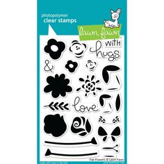 """We've just added Fab Flowers 4""""X6""""... to the Kat Scrappiness Store!  More info here:  http://www.katscrappiness.com/products/fab-flowers-4x6-clear-stamps-by-lawn-fawn?utm_campaign=social_autopilot&utm_source=pin&utm_medium=pin"""