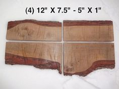 Four Live Edge Sweet Gum Solid Hardwood Wood by HurricaneMilling, $99.99 http://www.etsy.com/listing/178725725/four-live-edge-sweet-gum-solid-hardwood?ref=shop_home_active_1