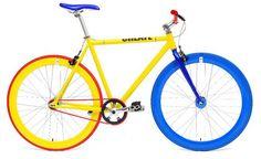 Create Yellow Blue  http://www.santafixie.com/comprar-bicicleta-fixie/create/create-yellow-blue.html