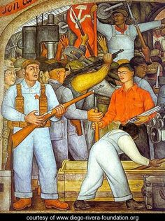 The Arsenal - Diego Rivera - www.diego-rivera-foundation.org