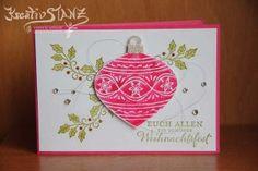 Weihnachten Karte Kugel sm Christbaum zauberhafte Zierde stampin up kreativstanz