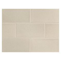 "Complete Tile Collection Vermeere Ceramic Tile - White Rock - Matte, 3"" x 6"" Manhattan Ceramic Subway Tile, MI#: 199-C1-311-821, Color: White Rock"