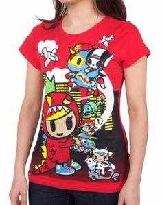 Tokidoki-Lil-Kaiju-Licensed-Junior-Shirt-S-XL