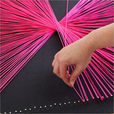 DIY Cool String Wall Art. Should also see about different shapes too.