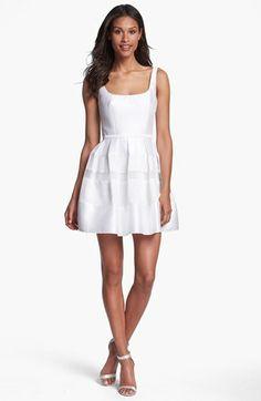 ABS by Allen Schwartz Tonal Stripe Fit & Flare Dress | Nordstrom