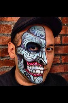 #faceNbodyPaint Skull