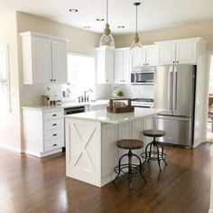 48 Cool Small Kitchen Design With Island 48 Cool Small Kitc. 48 Cool Small Kitchen Design With Island 48 Cool Small Kitchen Design With Island Apartment Kitchen, Home Decor Kitchen, New Kitchen, Home Kitchens, Kitchen Counters, Kitchen Cabinetry, 10x10 Kitchen, Kitchen Furniture, Wood Furniture