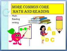 Reading comprehension and basic math worsheets aligned to the Common Core Standards. Standards written at top of each sheet with description of standard being taught within the worksheets.