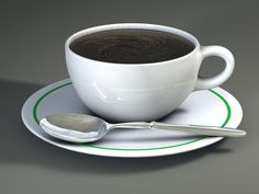 Cup Spoon 3D Model - 3D Model