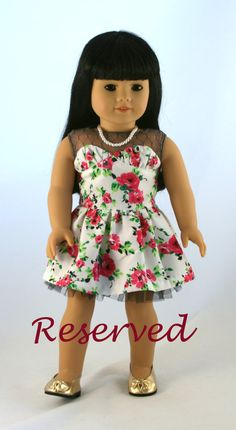 Just adorable!!!   RESERVED FOR JACQUELYN  Tokyo Blossom Dress by Forever18Inches