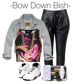 """Bow down"" by cocochanelox ❤ liked on Polyvore"