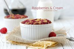 Raspberries & Cream Breakfast Cake by @The Urban Poser guest posted on paleoparents.com #paleo