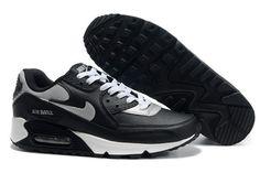 official photos d5eb7 5fa83 Homme Nike Air Max 90 Noir Argent Blanc