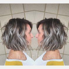 #grey #greyhair #rootedombre #ombre #ashyhair #ash #bob #greyombre #hair #shorthairstyles