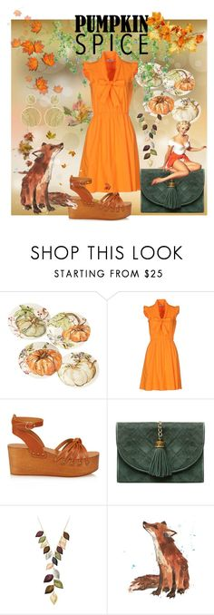 """""""Pumpkin patch dress"""" by pinkcurlers ❤ liked on Polyvore featuring Pottery Barn, Moschino Cheap & Chic, Isabel Marant, Jacmel and Theo Fennell"""