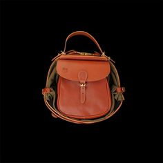 il bisonte Small Maremmana Backpack in Cognac Angle4