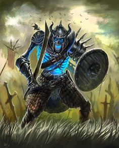 Skeleton Warrior by aaronflorento on @DeviantArt