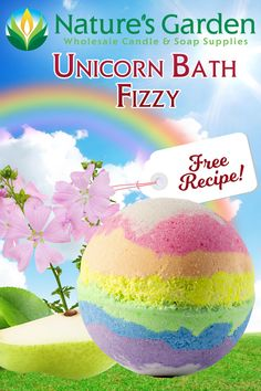 Free Unicorn Bath Fizzy Recipe by Natures Garden