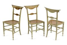 French Directoire Period Chairs, S/6