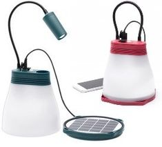 Denne lampa må oppleves! En supersmart hytte- og turlampe som lader både seg selv og mobilen din.