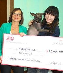Le Doggy Café devient le premier gagnant du Concours de subvention pour petites entreprises d'ADP pour l'année 2015 - La Revue HRI : HOTELS, RESTAURANTS et INSTITUTIONS