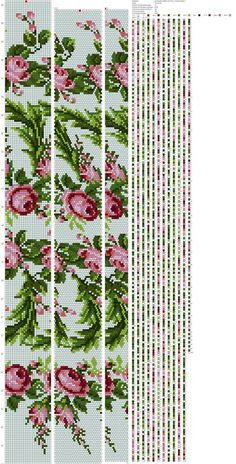 Drawing schemes for harnesses from beads, embroidery, etc.'s photos - 24 albums Crochet Bracelet Pattern, Crochet Beaded Bracelets, Bead Crochet Patterns, Bead Crochet Rope, Beaded Crafts, Beaded Bracelet Patterns, Beading Patterns, Beaded Crochet, Seed Bead Flowers
