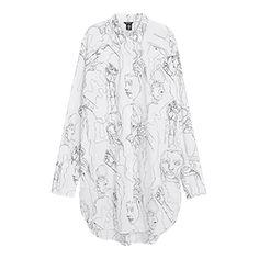 Long Cotton Shirt - Lindex