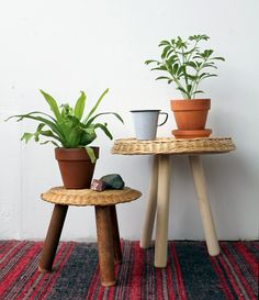 DIY wicker stools from Design*Sponge    just what my house needs... more surface area for me to pile things on! :/
