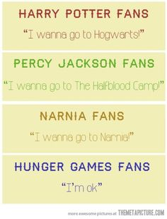 right…Harry Potter/Percy Jackson/Narnia/Hunger Games